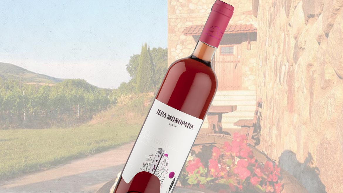 IERA MONOPATIA Syrah | Dry Rose Wine